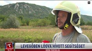 Siklóernyőst mentettek a kesztölci önkéntes tűzoltóink