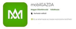 Tájékoztató az új mobilGAZDA alkalmazásunkról