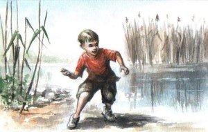 Kacsázós fiú (15x21)