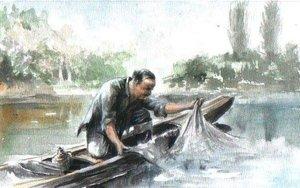 Pityókás halász (15x21)